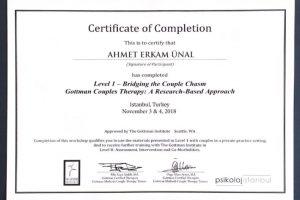 Gottman Çift Terapisi ve Duygu Odaklı (EFT) Çift Terapisi I. Düzey (Uzm. Psikolog Özge Altan Aytun)