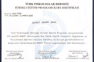 MinesotaÇok YönlüKişilik Envanteri (MMPI) Uygulama Ve Yorumlama Eğitimi (Türk Psikologlar Derneği)